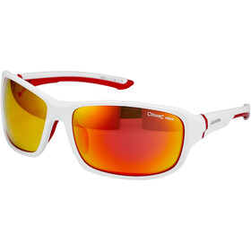 Alpina Lyron Brille white matt-red